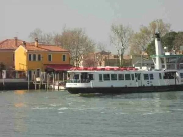 Vaporetto by Burano in Venice