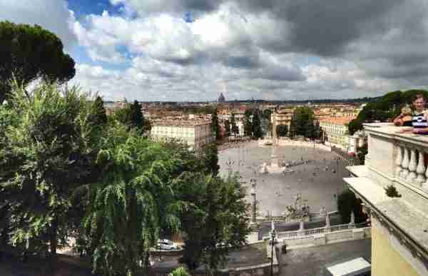 View of Piazza del Popolo from the Pincio