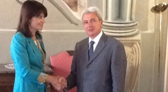 Ragusa. Visita in Prefettura del console generale di Romania a Catania