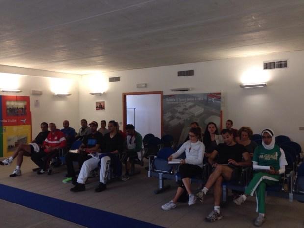 Una fase del seminario di aggiornamento