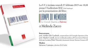 """Presentazione libro """"Lampi di memoria-La grande guerra a Palermo"""" di Melinda Zacco"""