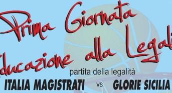 Priolo, prima giornata di educazione alla legalità: incontro di basket tra la Nazionale Magistrati e le Glorie Sicilia