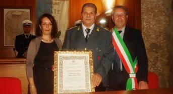 Acate. Conferita la Cittadinanza Onoraria al Brigadiere Capo della Guardia Di Finanza, Santo Canzonieri.