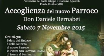 Finale Emilia. Sabato 7 novembre: festeggiamenti per la nomina del nuovo Parroco.