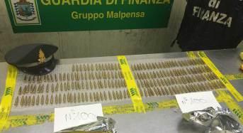 Aeroporto di Malpensa sequestro di munizioni da guerra destinate alla Papa Nuova Guinea