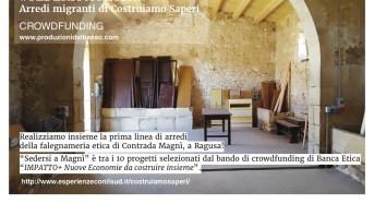 "Diocesi di Ragusa, crowfunding per ""Sedersi a Magnì"""