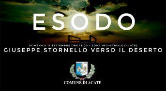 """Acate. """"Esodo"""" di Giuseppe Stornello. Domenica presso la Zona Industriale."""