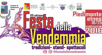 Piedimonte Etneo. Domani apertura stand e Canzoniere Grecanico Salentino in concerto, la Festa della Vendemmia entra nel vivo