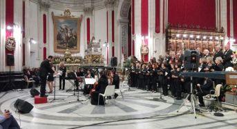 Ragusa Ibla. Molto partecipato concerto in onore di San Giorgio tenuto dal coro Enarmonia al duomo