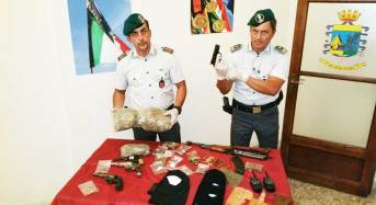 Catania. Sequestrate armi e marijuana: Arrestati due catanesi