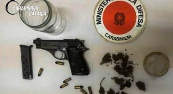 Mascali. Una pistola con matricola abrasa e della marijuana a casa. Arrestato