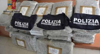Vittoria. La Polizia di Stato sequestra 300 kg di marijuana
