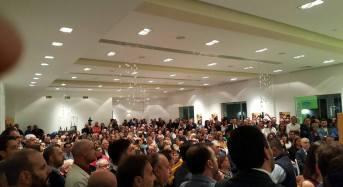 """La convention di Andrea Nicosia: """"A Palermo per battere i pugni e difendere Vittoria e tutto il Ragusano"""""""