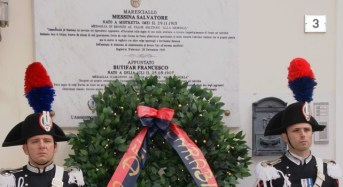 Bagheria, commemorazione dell'eccidio del Mar.Ca Messina e dell'Appuntato Butifar
