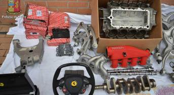 Scoperto giro di ricambi auto trafugati dalla Ferrari SPA