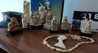 Palermo. Contrasto al commercio illecito di specie animali e vegetali in via di estinzione: Sequestrate 10 statuette, una collana e un effige di donna realizzate in avorio