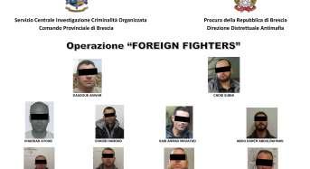"""Finanziamento a gruppi terroristici di matrice islamica, operazione """"foreign fighters"""": 10 arresti"""
