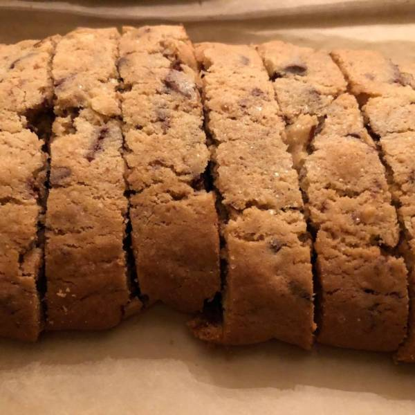chocolate almond cantucci