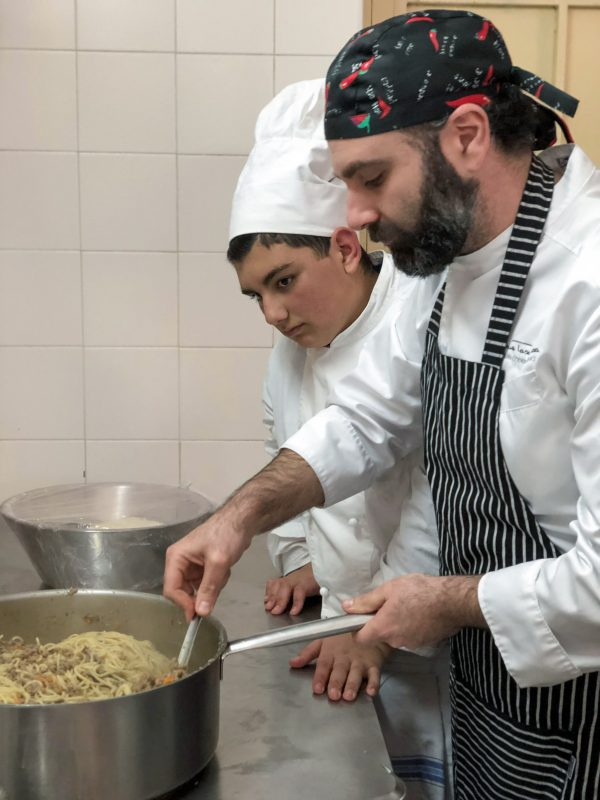 10 moments in Sicily - Chef Mario and his students