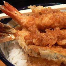 Tendon crevette panée en tempura chez Itamae restaurant japonais à Marseille