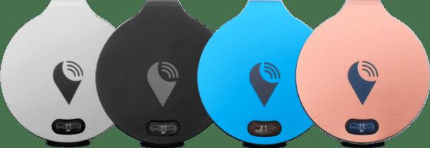 O dispositivo TrackR em cores diferentes