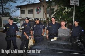 GAT e Canil atuaram em conjunto e desempregado acabou preso