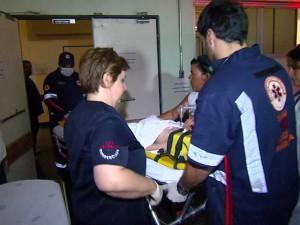 Menino foi transferido pelo Samu de Itapira para Hospital de Clínicas de Campinas (Victor Freitas/EPTV)