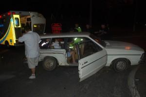 Por sorte, acidente não teve consequências mais graves (Adilson Fernandes)