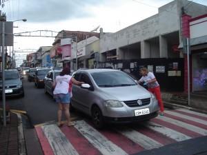Campanha foi vista nas ruas da cidade (Divulgação)
