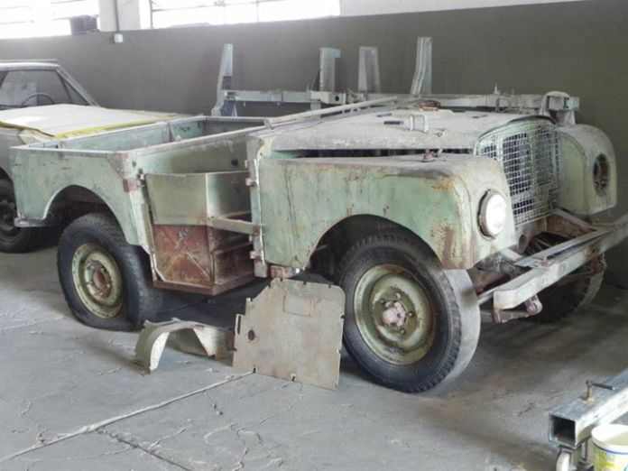 Land Rover 1949, antes da restauração
