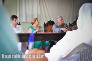 Pacheco falou a jornalistas, funcionários e colaboradores da Santa Casa: renovação