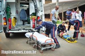 Homem foi socorrido pelo Samu, mas morreu no Hospital Municipal