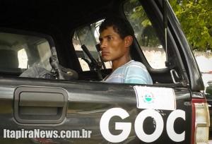 Nogueira foi detido quando tentava deixar o estabelecimento