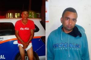 Presos em flagrante, Carlão e Tiago confessaram o crime (Reprodução/GCM Engenheiro Coelho)