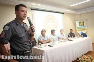 Major Mello Araújo apresentou detalhes do projeto (Leo Santos)