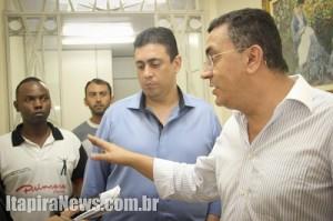 Vereadores conversaram com vice-presidente e deputado estadual (Leo Santos)