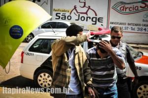 Acusados chegam à Delegacia após detenção feita por policiais