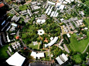 Vista aérea mostra o campus da Unicamp, em Barão Geraldo, Campinas (Antoninho Perri/Ascom/Unicamp)