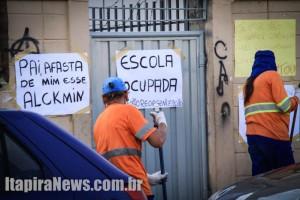 Escola Pedro Ferreira Cintra, na Vila Izaura, é uma as unidades ocupadas em Itapira