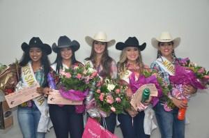 Rafaela, Karoline, Cristiana, Bruna e Laila compõem a corte do evento (Divulgação)
