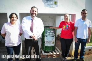 Rosana, Gabriel, Aura e Fagner: iniciativa do condomínio beneficia entidade