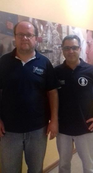 Giraldi (à esquerda) e o novo diretor, Paulo Barbanti (Divulgação)