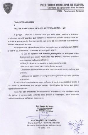 Divisão oficiou produtora no final de julho e fez recomendações (Reprodução)