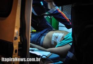 Suspeito recebeu dois tiros disparados por policial à paisana