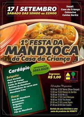 Festa da Mandioca é opção em Itapira (Reprodução)