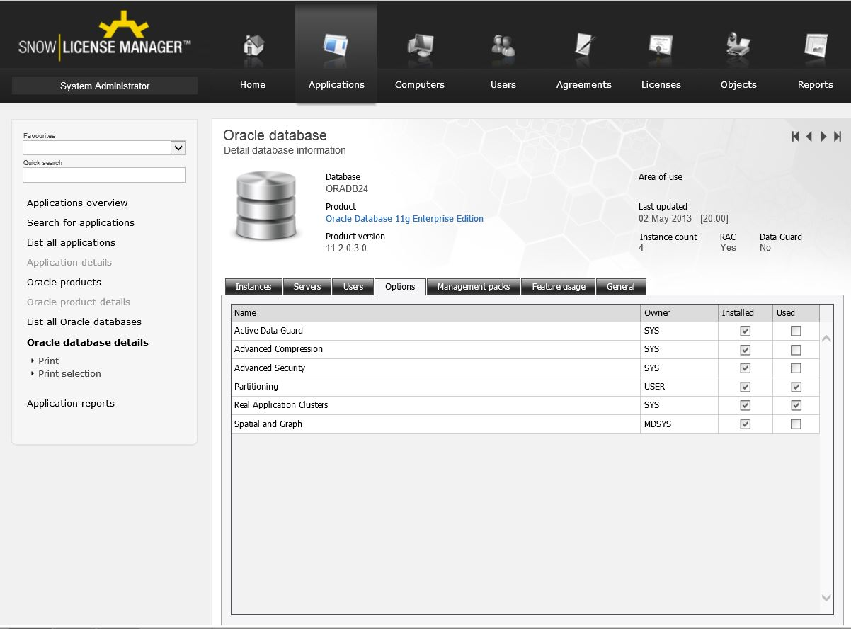 Snow Software For Oracle License Management