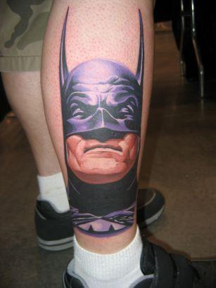 Batman Tattoo On Leg Tattoo From Itattooz