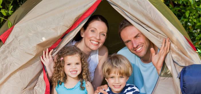 campeggio con bambini