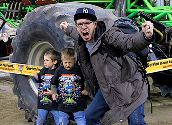Video creator Mark McKay appears to enjoy being a Dad just as much as he does making content.