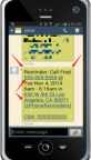 Mobile-PhoneWithReminderScreen